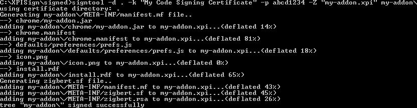 CodeSign XPI 6